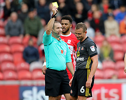 Sunderland's Lee Cattermole is booked