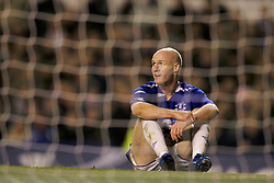 Liverpool, England - Wednesday, December 5, 2007: Everton's Andrew Johnson looks dejected against Zenit St. Petersburg during the UEFA Cup Group A match at Goodison Park. (Photo by David Rawcliffe/Propaganda)