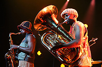 Sons of Kemet performing on stage