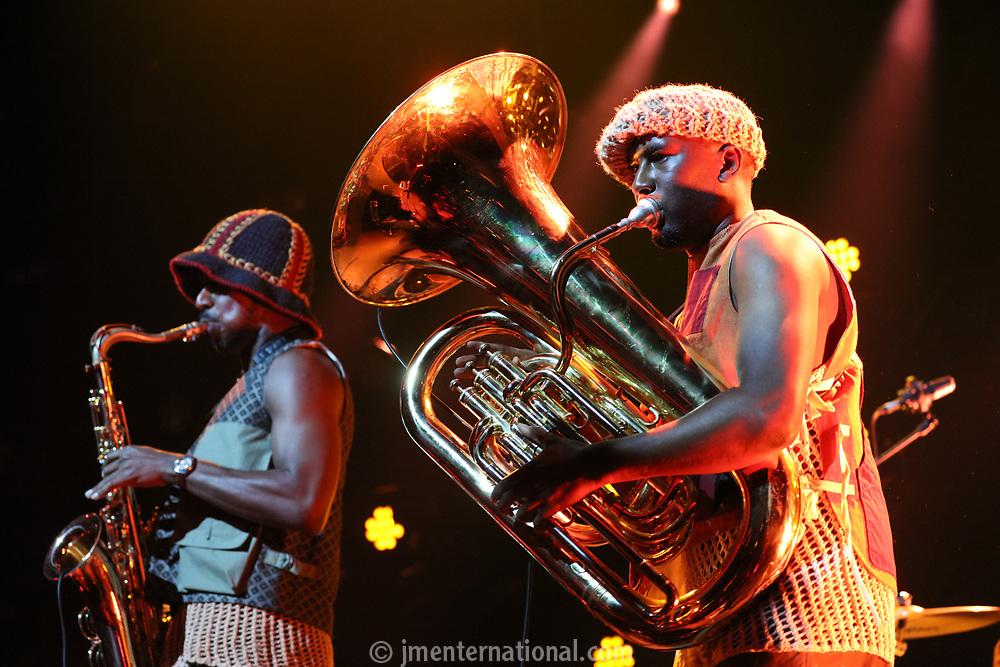 Sons of Kemet performing on stage