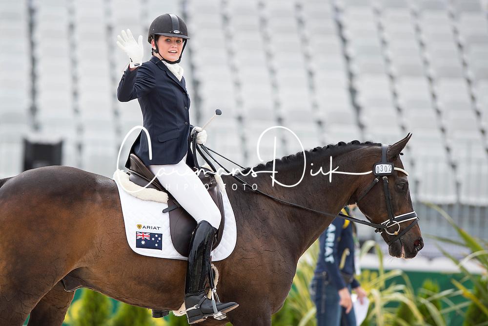 Chelsea Higgins, (AUS), Holstein Park Comedian - Individual Test Grade III Para Dressage - Alltech FEI World Equestrian Games&trade; 2014 - Normandy, France.<br /> &copy; Hippo Foto Team - Jon Stroud <br /> 25/06/14