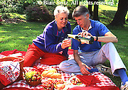 Active Aging Senior Citizens, Retired, Activities, Elderly Couple Outdoor Recreation, Staying Fit, Enjoying Nature, Picnic in Park