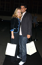 Actress MIRANDA RAISON and actor RAZZA JAFFRAY from TV's Spooks at a party hosted by Jo Malone - Pomegranate Noir, held at The Vinyl Factory, 45 Foubert's Place, London W1 on 15th September 2005.<br />