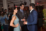 CARA SANTANA; DAVID GANDY; JESSE METCALFE, Oliver Spencer London Collections :Oliver Spencer x Liberty London x Men's Health party. Liberty's. London. 17 June 2013