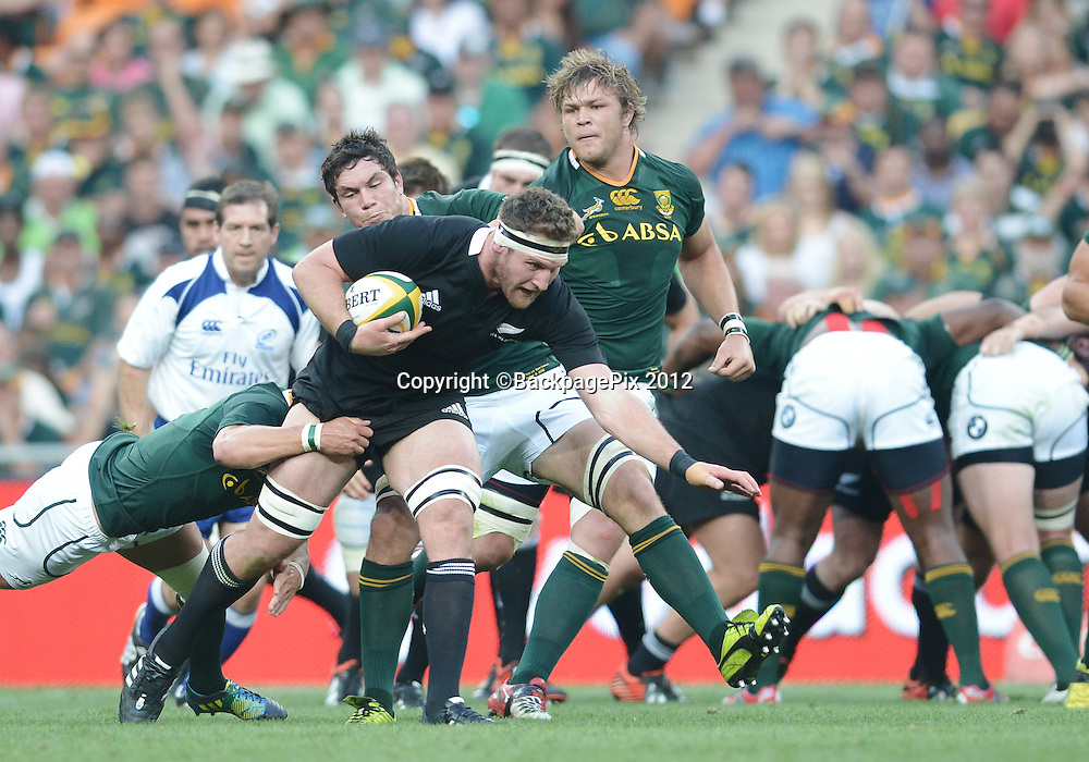 Kieran Read of New Zealand during the 2012 Castle Rugby Championship match between South Africa and New Zealand played at Soccer City in Johannesburg, South Africa on 6 October 2012 © Barry Aldworth/BackpagePix