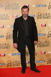 © Licensed to London News Pictures. 18/03/2015, UK. Ian Beattie (Ser Meryn Trant), Game of Thrones - Series Five World Premiere, Tower of London, London UK, 18 March 2015. Photo credit : Richard Goldschmidt/Piqtured/LNP