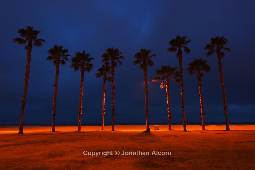 Santa Monica scene at dusk