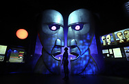 LONDON, ENGLAND - MAY 09:  A display showing the Division Bell metal heads during a preview of the Pink Floyd Exhibition: Their Mortal Remains at The V&A on May 9, 2017 in London, England. The exhibition is an immersive, experimental journey through Pink Floyd's world, from high tech audio-visual events, objects, surreal landscapes, and the culture explosions that evolve throughout the exhibition.  (Photo by Tim P. Whitby/Tim P. Whitby/Getty Images)