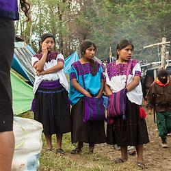 Donne zapatiste nel Caracol di Oventik