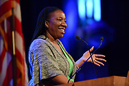 Tarana Burke speaks at the Women's Political Collaborative Day on the Hill Luncheon event at the Wildhorse Saloon on March 14, 2018.