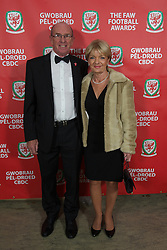 CARDIFF, WALES - Monday, October 8, 2012: Rodger and Carol Speed, parents of Gary Speed, arrive for the FAW Player of the Year Awards Dinner at the National Museum Cardiff. (Pic by David Rawcliffe/Propaganda)