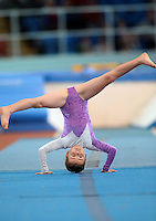 20 Aug 2016: Aine McGranaghan, from Sligo, performs in the U9 Gymnastics.   2016 Community Games National Festival 2016.  Athlone Institute of Technology, Athlone, Co. Westmeath. Picture: Caroline Quinn