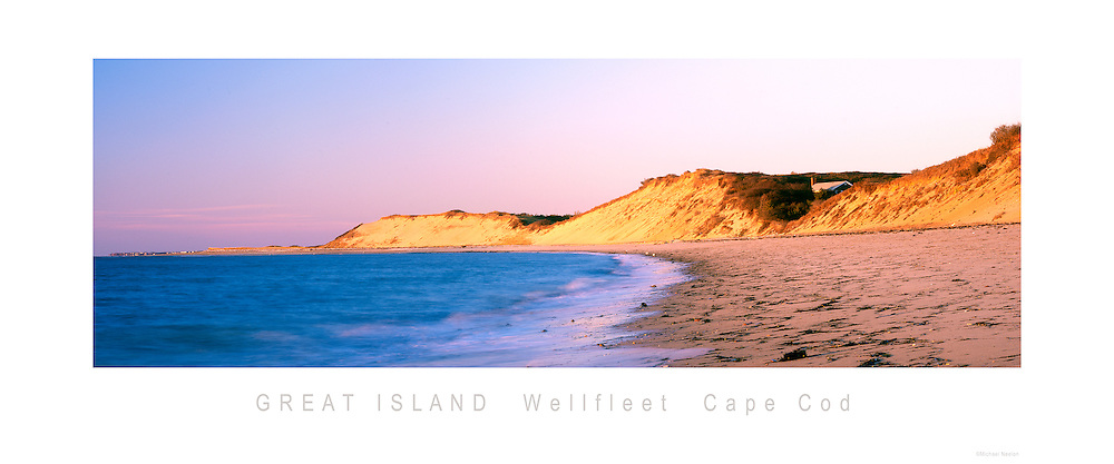 Great Island Wellfleet Cape Cod Panoramic Poster<br />