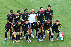 Players of  Mexico during the Group A first round 2010 FIFA World Cup South Africa match between South Africa and Mexico at Soccer City Stadium on June 11, 2010 in Johannesburg, South Africa.  (Photo by Vid Ponikvar / Sportida)