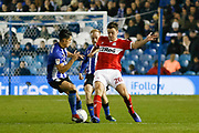 Middlesbrough defender Dael Fry (20) in action during the EFL Sky Bet Championship match between Sheffield Wednesday and Middlesbrough at Hillsborough, Sheffield, England on 19 October 2018.