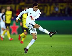 November 21, 2017 - Dortmund, Germany - Tottenham Hotspur's Dele Alli during UEFA Champion  League Group H Borussia Dortmund between Tottenham Hotspur played at Westfalenstadion, Dortmund, Germany 21 Nov 2017  (Credit Image: © Kieran Galvin/NurPhoto via ZUMA Press)