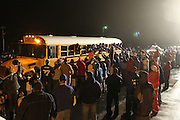 Hundreds of Madison County fans waited in the rain at the Madison High School to greet and congratulate their State Championship team as they arrived home after the game.  Date:  March/12/10, Madison boy's basketball team brought home the State Championship tonight defeating the Altavista Colonels 41-38.  Leading Madison were Logan Terrel, David Falk, and Jerel Carter with 10 points each.
