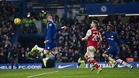 Football - 2019 / 2020 Premier League - Chelsea vs. Arsenal<br /> <br /> Ross Barkley (Chelsea FC) beats the offside and heads backwards towards the Arsenal goal at Stamford Bridge <br /> <br /> COLORSPORT/DANIEL BEARHAM