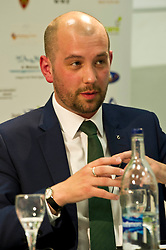 Pictured: Ben MacPherson (SNP candidate forEdinburgh Northern and Leith)<br /> <br /> Candidates from the five main parties will face questions from both a live audience and viewers at home via videolink and social media at an event organised by Stop Climate Chaos Scotland and chaired by journalist David Torrance. The panelists are Labour's Sarah Boyack, Mark Ruskell of the Greens, Ben MacPherson of the SNP, the Lib Dems' Ettie Spencer and Tory Jeremy Balfour<br /> <br /> Ger Harley | EEm 18 April 2016