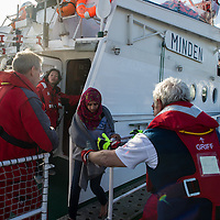 07 Lesbos refugees on rescue vessel Minden