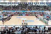 DESCRIZIONE : Trento Lega A 2014-15 <br /> Dolomiti Energia Trento vs Granarolo Bolognaa<br /> GIOCATORE : Panoramica<br /> CATEGORIA : Inno Nazionale<br /> SQUADRA : <br /> EVENTO : Campionato Lega A 2014-2015 GARA :Dolomiti Energia Trento vs Granarolo Bologna<br /> DATA : 10/05/2015 <br /> SPORT : Pallacanestro <br /> AUTORE : Agenzia Ciamillo-Castoria/IvanMancini<br /> Galleria : Lega Basket A 2014-2015 Fotonotizia : Trento Lega A 2014-15 Dolomiti Energia Trento vs Granarolo Bologna<br /> Predefinita:
