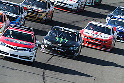 Fontana, CA/USA (Saturday, March 23, 2013) - NASCAR Nationwide Series car driver Kyle Busch drives car #54 on his way to win the 2013 Royal Purple 300 at the Auto Club Speedway in Fontana, CA. PHOTO © Eduardo E. Silva/SILVEX.PHOTOSHELTER.COM.