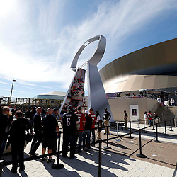 Feb 3, 2013; New Orleans, LA, USA; A general view as football fans arrive for Super Bowl XLVII between the San Francisco 49ers and the Baltimore Ravens at the Mercedes-Benz Superdome. Mandatory Credit: Derick E. Hingle-USA TODAY Sports