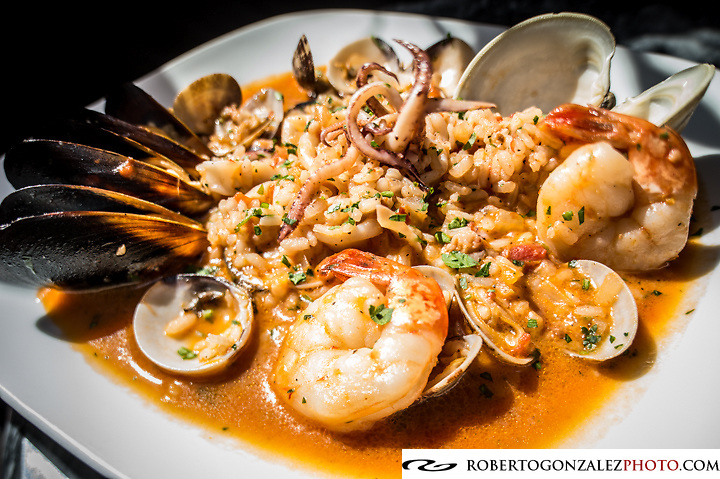 Barbara Alfano chef/owner of Peperocino prepares Seafood pasta, Antipasta, and Duck, Orlando, FL, February 12, 2013. Photo by Roberto Gonzalez