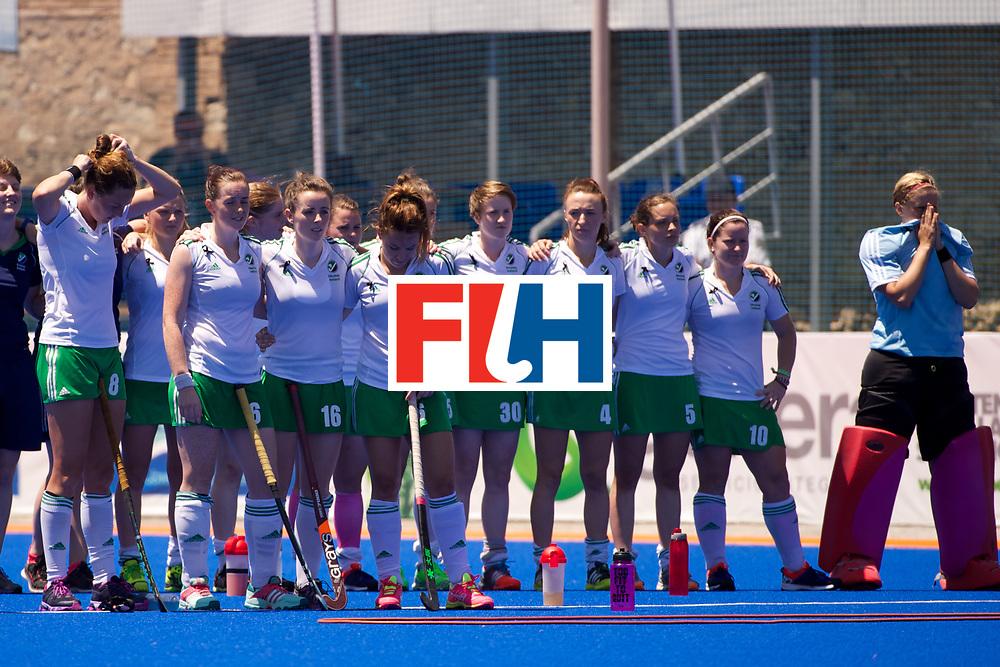RIO 2016 Olympic qualification, Hockey, Women, quarterfinal, Ireland vs China : team Ireland during shoot out