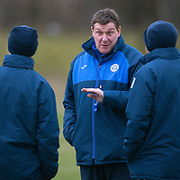 St Johnstone Training…19.02.16<br />Manager Tommy Wright talks with Callum Davidson and Alec Cleland<br />Picture by Graeme Hart.<br />Copyright Perthshire Picture Agency<br />Tel: 01738 623350  Mobile: 07990 594431
