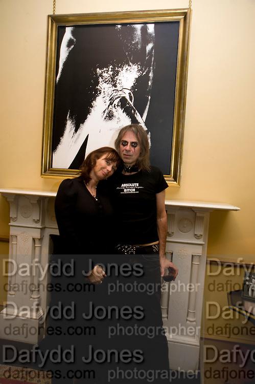 Anita Zabludowicz; Ivor Braka, fff. Video instalation by Kutluk Ataman. Thomas Dane Gallery, Duke st. Afterwards at Ivor Braka's house. Chelsea. London. 12 March 2009