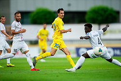 Branko Ilic of Domzale vs Kevin Grobry Doukoure of Tabor Sezana during football match between NK Domzale and NK CB24 Tabor Sezana in 31st Round of Prva liga Telekom Slovenije 2019/20, on July 3, 2020 in Sports park, Domzale, Slovenia. Photo by Vid Ponikvar / Sportida