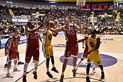 Tarczewski Kaleb<br /> FIAT Torino - EA7 Emporio Armani Milano<br /> Lega Basket Serie A 2017-2018<br /> Torino 10/12/2017<br /> Foto M.Matta/Ciamillo & Castoria