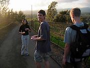 Kei, Josh, and Adam on a hike through the vineyards of Napa Valley, CA.
