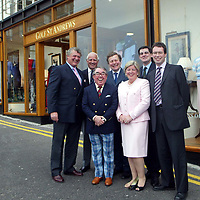 Golf St Andrews shop, a joint venture between the House of Bruar and the R&A, which was officially opened by Ronnie Corbett, pictured with from left, Mark Birkbeck, Graeme Simmers R&A Captain, James Sugden of Johnstons of Elgin, Linda Birkbeck, Patrick Birkbeck, House of Bruar MD and ??????<br />