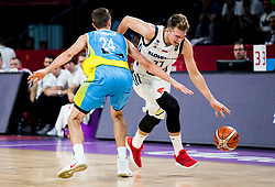 Volodymyr Koniev of Ukraine vs Luka Doncic of Slovenia during basketball match between National Teams of Slovenia and Ukraine at Day 10 in Round of 16 of the FIBA EuroBasket 2017 at Sinan Erdem Dome in Istanbul, Turkey on September 9, 2017. Photo by Vid Ponikvar / Sportida