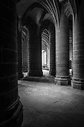 Abbey interior, Mont Saint-Michel monastery, Normandy, France