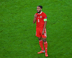 CARDIFF, WALES - Thursday, September 6, 2018: Wales' captain Ashley Williams during the UEFA Nations League Group Stage League B Group 4 match between Wales and Republic of Ireland at the Cardiff City Stadium. (Pic by Laura Malkin/Propaganda)