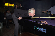 Sir George Martin. RNIB Soundscape party at the Elbow Room. Chapel St. London N1. 1 March 2001. © Copyright Photograph by Dafydd Jones 66 Stockwell Park Rd. London SW9 0DA Tel 020 7733 0108 www.dafjones.com