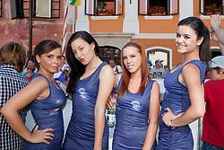 Hostesses during 3rd Stage (219 km) at 19th Tour de Slovenie 2012, on June 16, 2012, in Skofja Loka, Slovenia. (Photo by Matic Klansek Velej / Sportida.com)