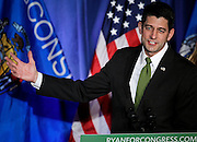 """U.S. Speaker of the House Paul Ryan (R-WI) gestures to the crowd during an """"Election Night event"""" in Janesville, Wisconsin, U.S. November 8, 2016. REUTERS/Ben Brewer"""