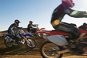 Motocross race in desert