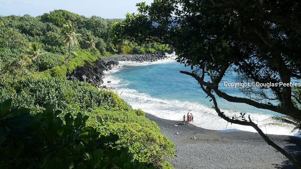 Waianapanapa, Black Sand Beach, Road to Hana, Maui, Hawaii