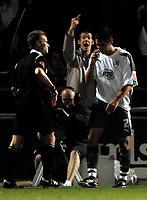 Photo: Richard Lane.<br />Northampton Town v Bristol City. Coca Cola League 1. 29/08/2006. <br />Referee, Mr. M Jones sends City's Bradley Orr off.