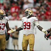San Francisco 49ers outside linebacker Aldon Smith (99) during an NFL football game between the San Francisco 49ers  and the Tampa Bay Buccaneers on Sunday, December 15, 2013 at Raymond James Stadium in Tampa, Florida.. (Photo/Alex Menendez)