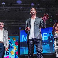 Nederland, Amsterdam, 4 september 2016.<br /> Manuscripta viert de opening van het boekenseizoen elk jaar in het eerste weekend van september. Een mooi literair festival.<br /> Geloof jij alles wat je ziet? In het boek&nbsp;MINDF*CK: 51 illusies en experimenten geven Victor Mids en Oscar Verpoort voor het allereerst de geheimen prijs achter hun beste en meest spectaculaire illusies uit het populaire tv-programma MINDF*CK.<br /> <br /> <br /> Foto: Jean-Pierre Jans
