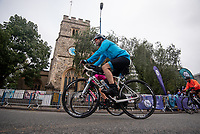 Riders in the sportives pass through Putney and over Putney Bridge. The Prudential RideLondon Sportives. Sunday 29th July 2018<br /> <br /> Photo: Kate Green for Prudential RideLondon<br /> <br /> Prudential RideLondon is the world's greatest festival of cycling, involving 100,000+ cyclists - from Olympic champions to a free family fun ride - riding in events over closed roads in London and Surrey over the weekend of 28th and 29th July 2018<br /> <br /> See www.PrudentialRideLondon.co.uk for more.<br /> <br /> For further information: media@londonmarathonevents.co.uk