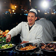 Djemaa el Fna cook, Marrakech, Morocco (November 2006)