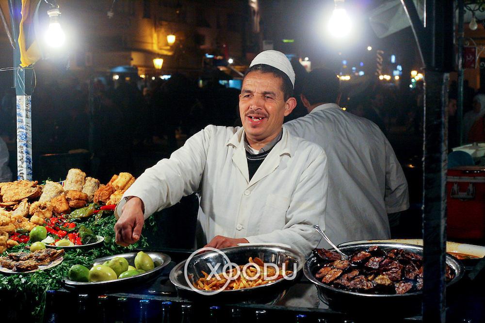 Djemaa el Fna cook, Marrakech, Morocco (November 2006)