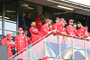 Lancashire await heading onto the field  during the Vitality T20 Finals Day semi final 2018 match between Worcestershire Rapids and Lancashire Lightning at Edgbaston, Birmingham, United Kingdom on 15 September 2018.